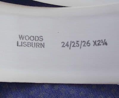 Vintage nurses belt UNUSED Woods Lisburn Size 24-26